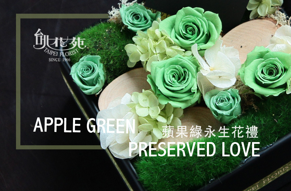 蘋果綠永生花