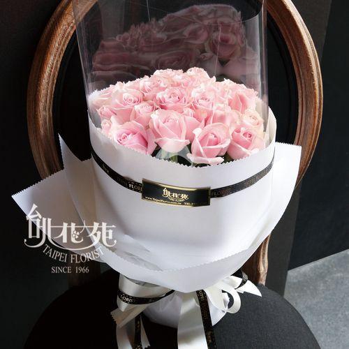 經典浪漫粉玫瑰花束